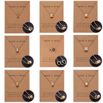 Make A Wish Circle Pendants Necklace Simple Geometric Double Circle Lariat Pendant Choker Clavicle Chain Necklace Unisex Jewelry