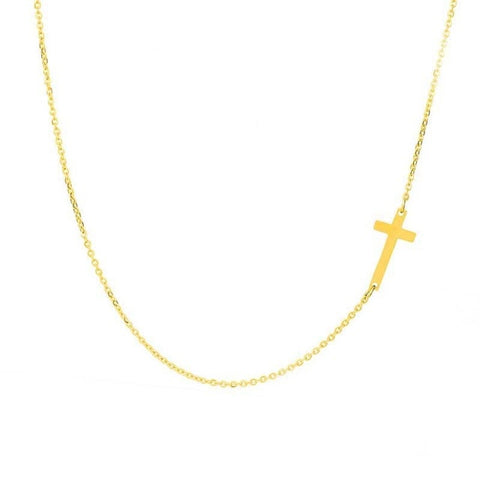 Simple Silver and Gold Color Cross Choker Necklace for Women Bohemian Stainless Steel Short Chain Necklace Summer Jewelry Collar