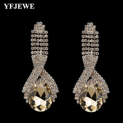 Elegant Party Colored Crystal Earrings