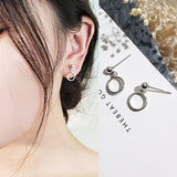 New Fashion Sexy Tiny Triangle Round Coin Drop Earrings for Women