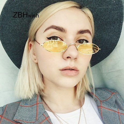 Small Vintage Retro Oval Sunglasses
