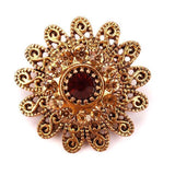 Factory Direct Sale Luxury Crystal Rhinestones Flower Brooch vintage Pins for fashion and beautiful Women in Antique