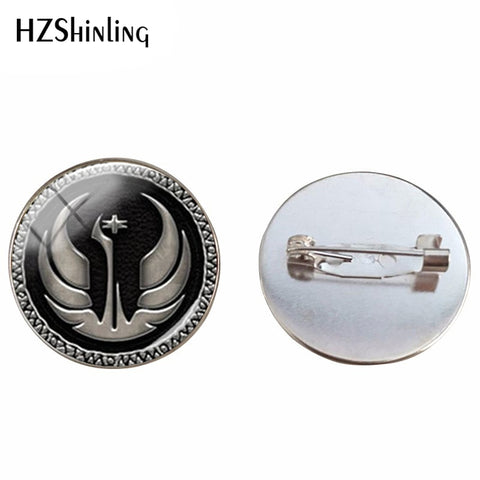 2018 New Fashion Glass Cabochon Dome Jewelry Star Wars Brooch Pin Star Wars Jewelry Personalized Picture Brooches