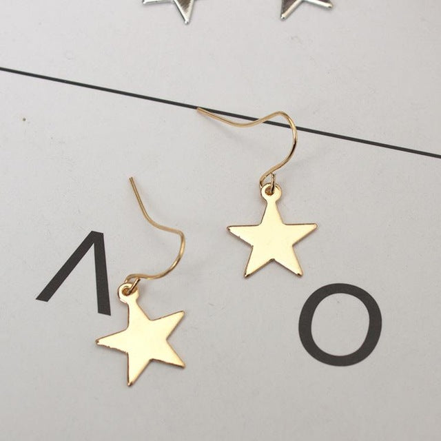 Five-pointed Star Dangling Earrings