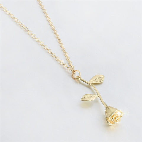 2019 New Fashion Jewelry Sliver Gold Rose Statement Pendant Necklace