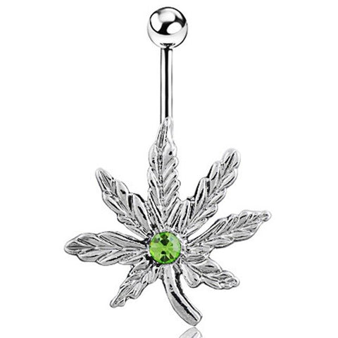 Black Maple Leaf Navel Piercing  Women Belly Button Piercing Maple Belly Button Rings Dangle Pircing Jewelry