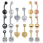 1PC Steel Ombligo Piercings 14G Rose Gold Navel Stud Belly Button Piercings Dangle Earrings Nombril Piercings Sexy Women Jewelry