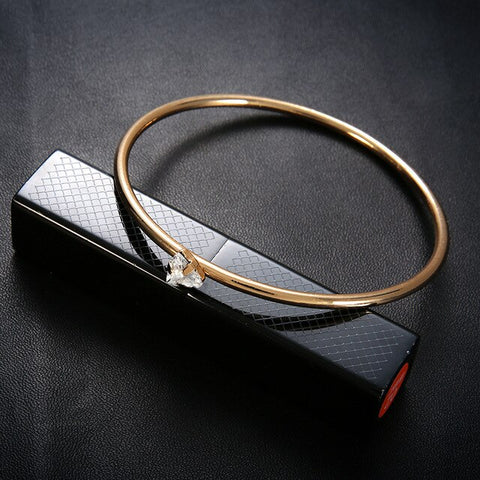 Vintage Crystal Gold Bracelet Bangles Simple Twist Cuff Open Bangles For Women Boho Jewelry Costume Jewellery 2018 Spring Summer