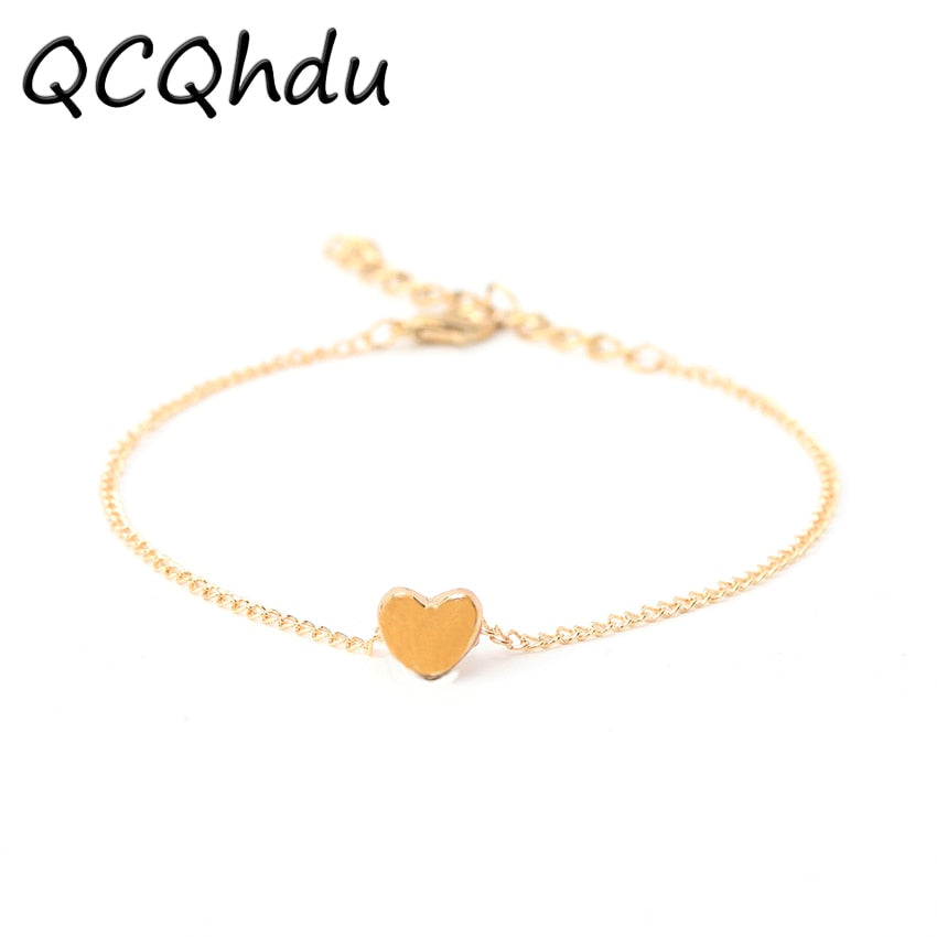 1PC Beach Barefoot Sandals Anklet Chain Girl Fashion Gold Heart Foot Anklets Bracelets Jewelry for Women