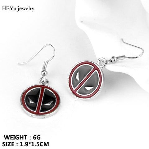Avengers 4 Iron Man Earings Fashion Jewelry Marvel Spiderman Batman Stud Earrings Cute Enamel Earing for Women Bijoux Sieraden