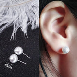 Crystal Rhinestone Pearl Stud Earrings for Women Vintage Earrings Gifts For Women