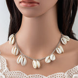 Shuangshuo Fashion Shell femme Necklace Natural Gold Shell Cowrie Necklaces For Women Choker Seashell Jewelry Summer Beach Gifts