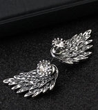 New Wings Stud Earrings For Women Punk gold-color Earrings simple design Hiphop Fashion aros harajuku jewelry