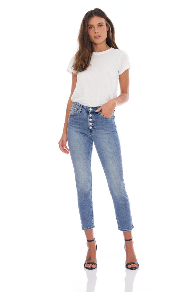 NEW! Brooke Button Front Skinny