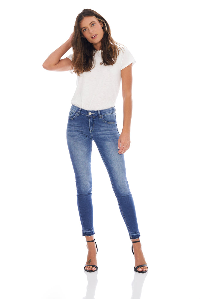 NEW! Ashley Light Wash Release Hem Skinny