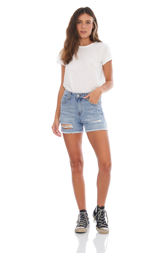 Hailey Destructed High Rise Short