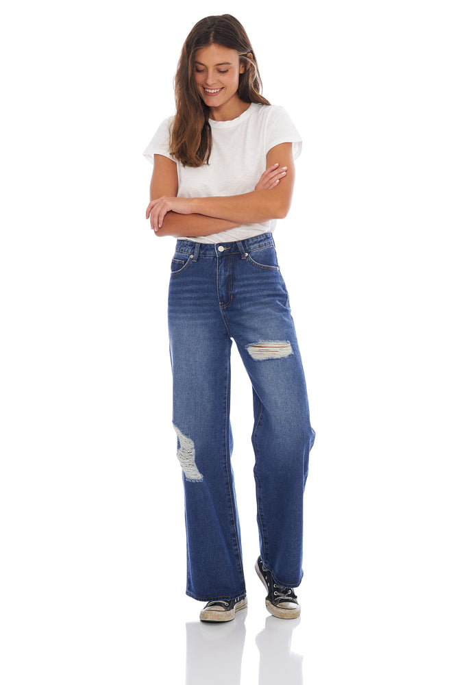 NEW! Madison Wide Leg Denim