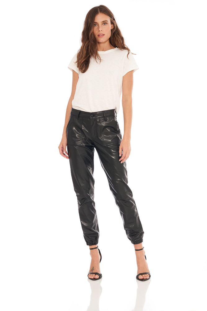 NEW! Demi Faux Leather Jogger