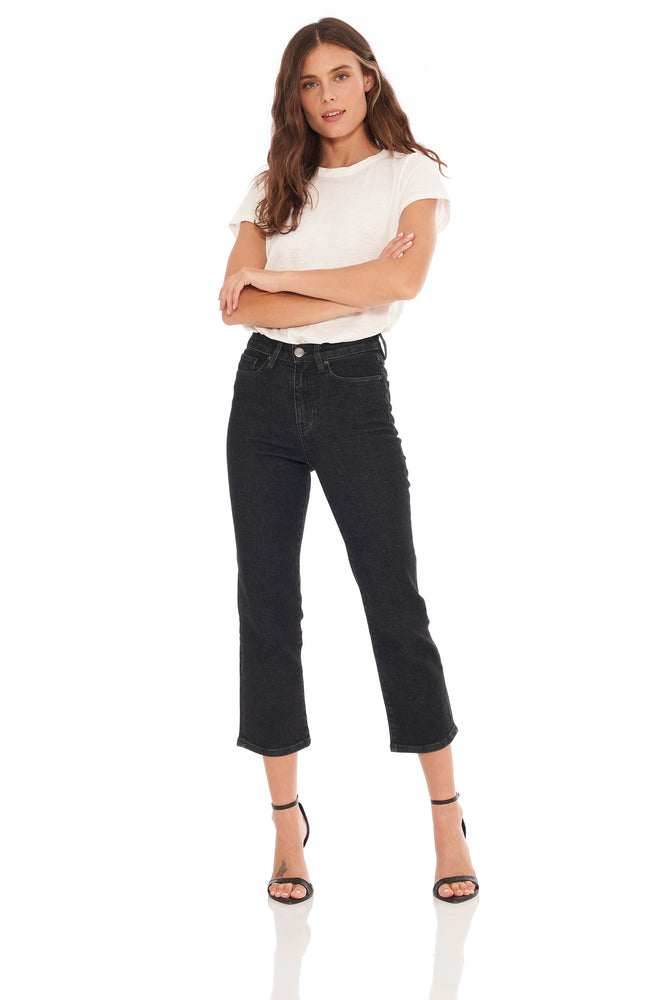 Madison Black High Waisted Crop
