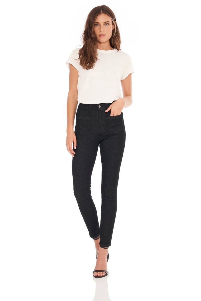 NEW! Keira High Rise Front Pocket Straight Black