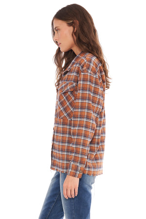 NEW! Evelyn LS Flannel Mustard