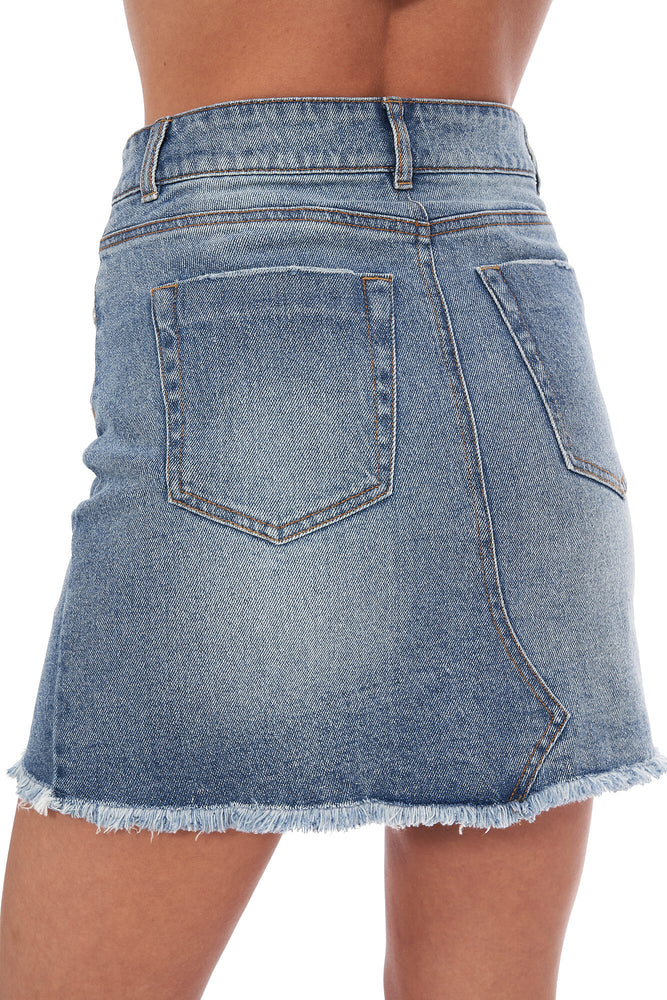 Kendall Fray Hem Mini Skirt