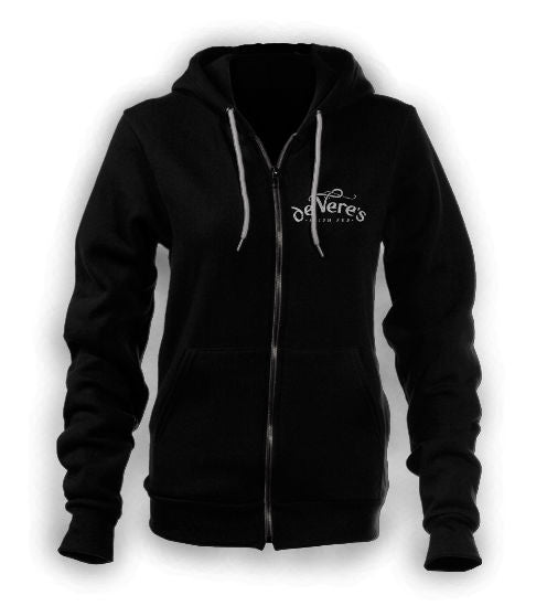 Charcoal Gray Zippered Hoodie