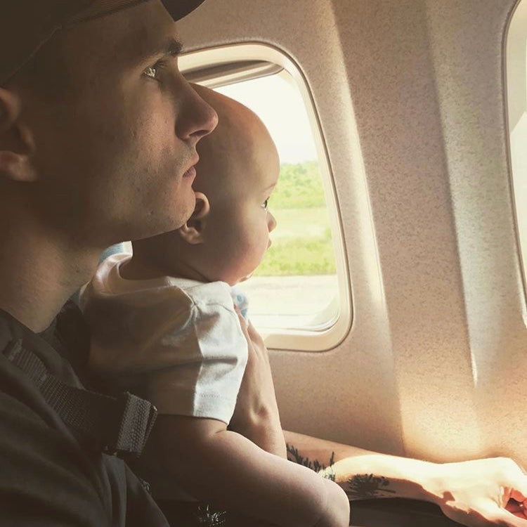 If you're taking your little one on a flight, try not to stress!