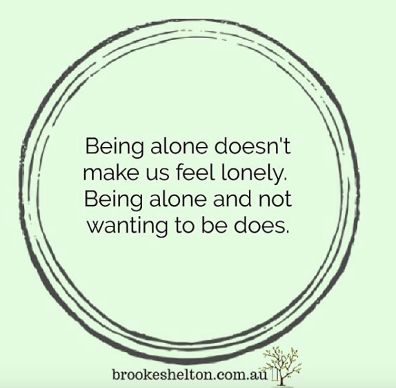 About being lonely