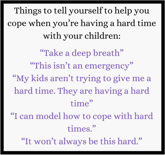 A hard time with our children..
