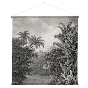 XXL jungle print wall hanging