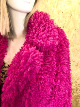 Load image into Gallery viewer, Hot pink faux fur coat
