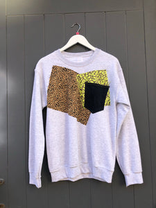 Exclusive patchwork sweatshirt