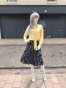 Yellow tie blouse