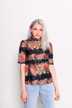 Load image into Gallery viewer, Metallic Floral print top