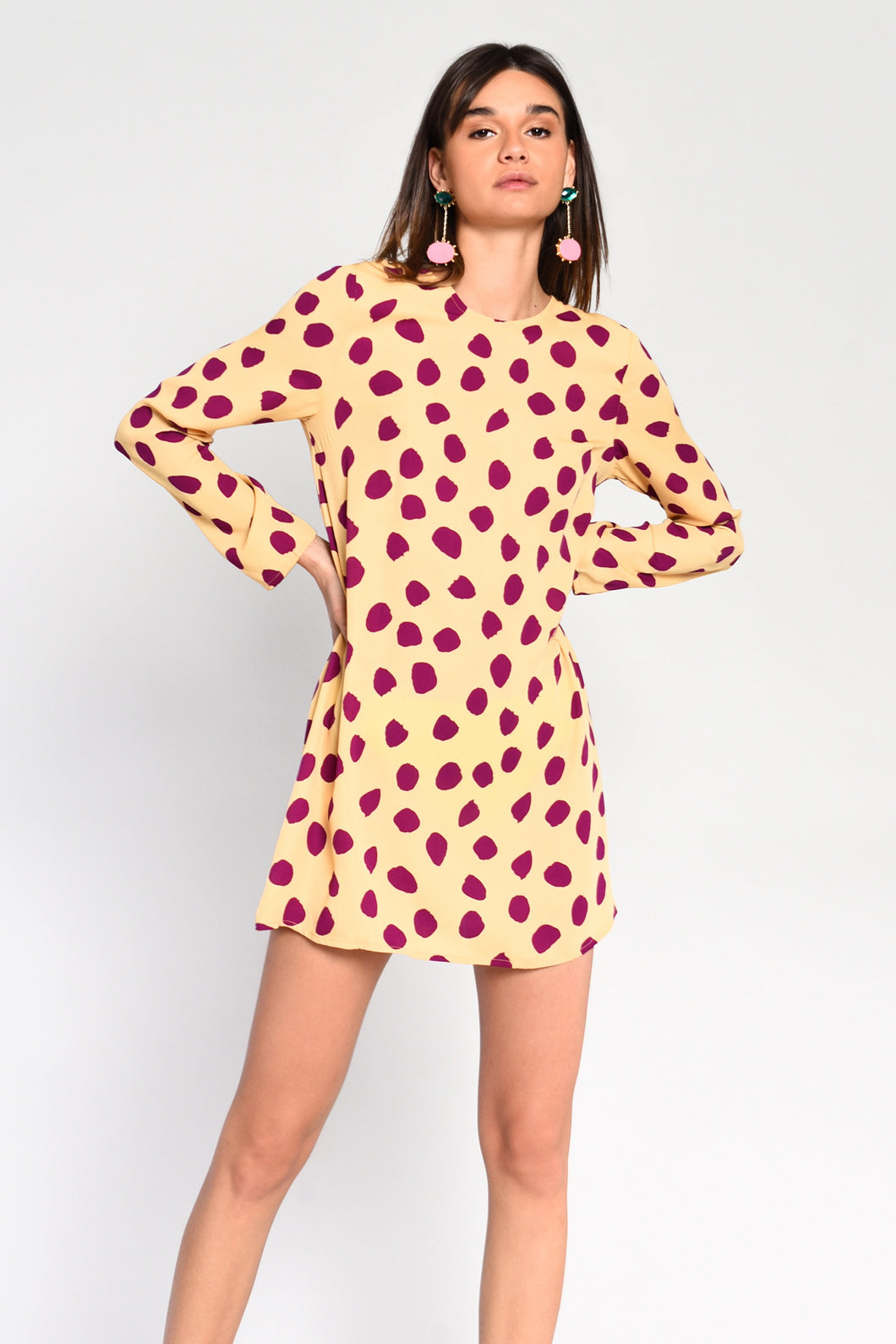 Abstract spot swing dress by Glamorous