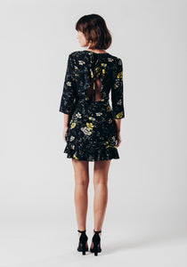 Floral dress with open back detail