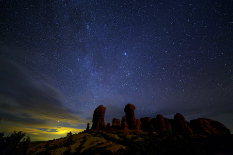Stars over Rock Formations
