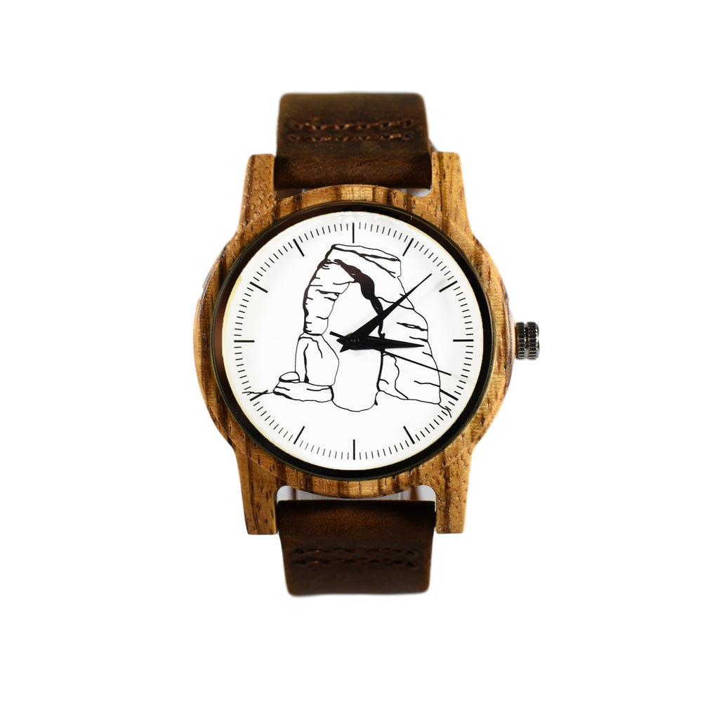 Delicate Arch Printed National Park Wooden Watch
