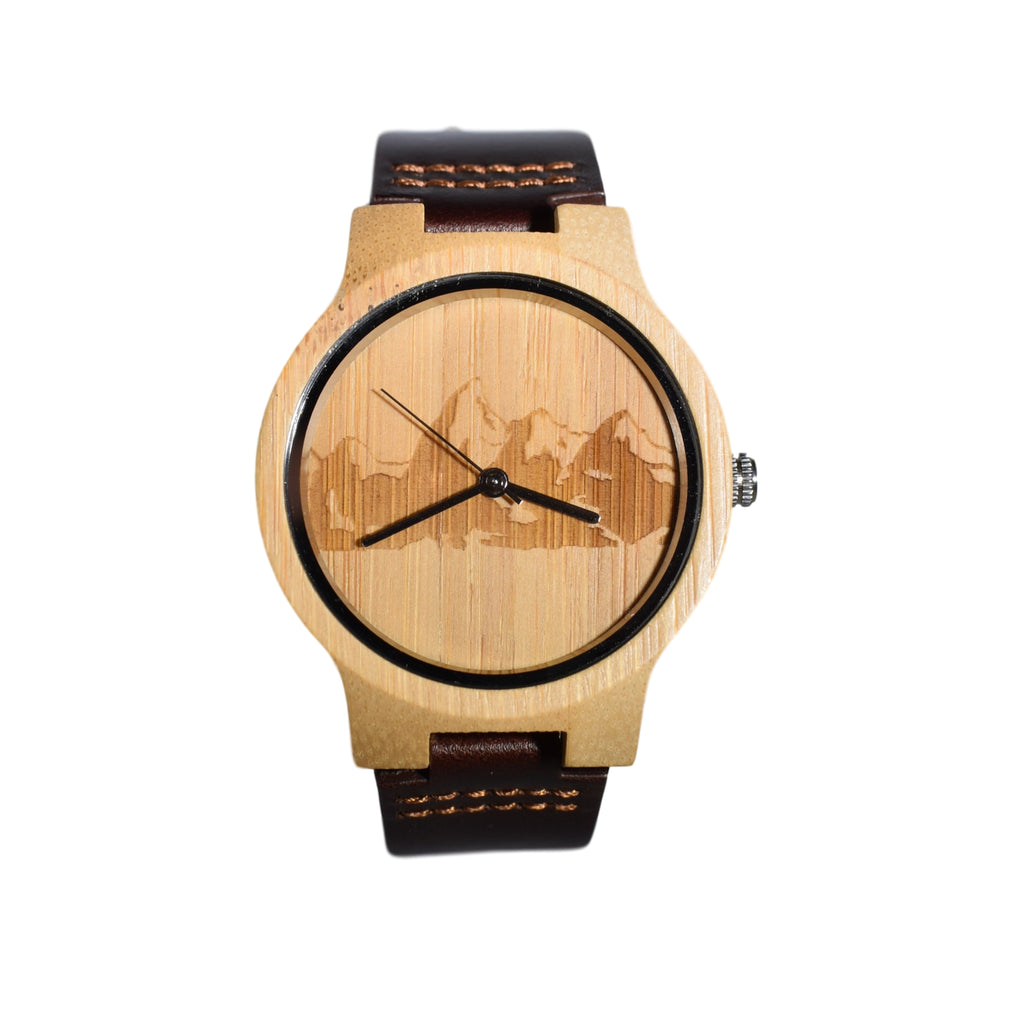 Grand Teton Engraved National Park Wooden Watch