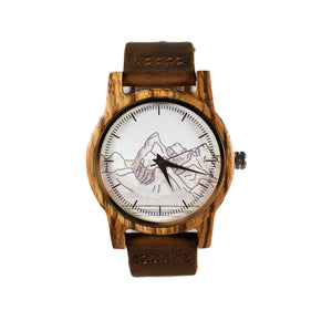 Grand Teton Printed National Park Wooden Watch
