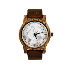 Half Dome Printed National Park Wooden Watch