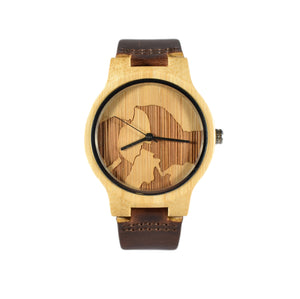 Half Dome Engraved National Park Wooden Watch