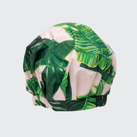 Luxury Shower Cap - Palm Leaves in Recycled Polyester