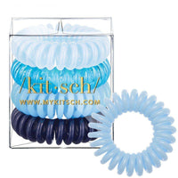 4 Pack Hair Coils - Denim - KITSCH