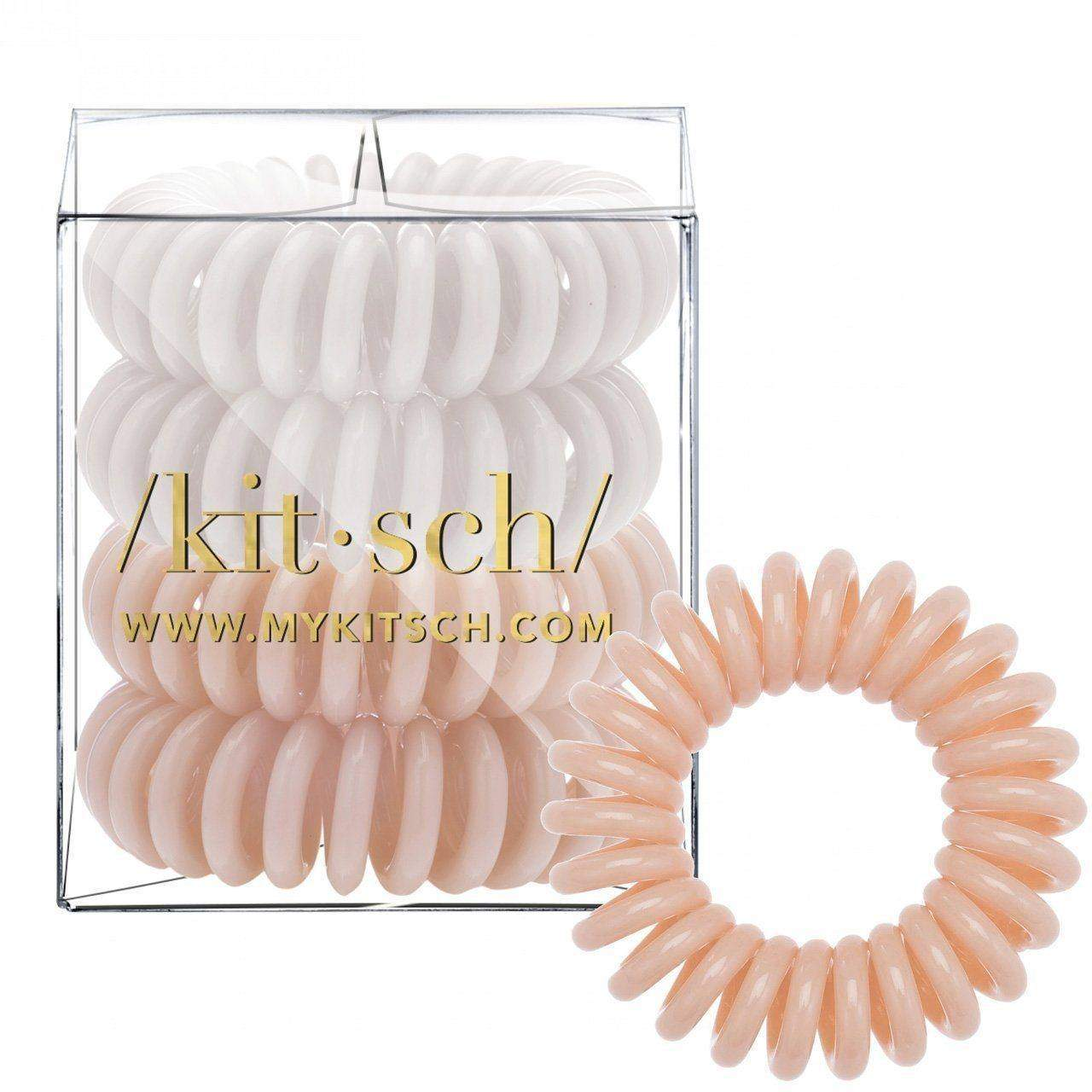 4 Pack Hair Coils - Nude - KITSCH