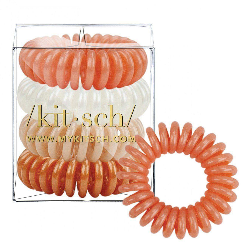 4 Pack Hair Coils - Rosé - KITSCH