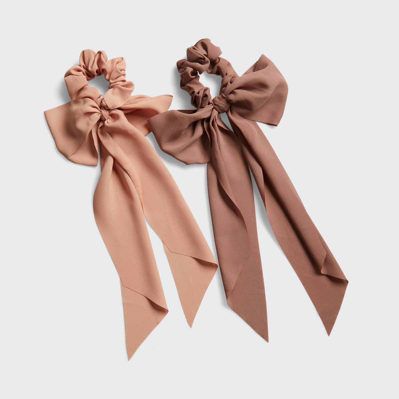 Crepe Scarf Scrunchie 2pc Set - Terra Cotta