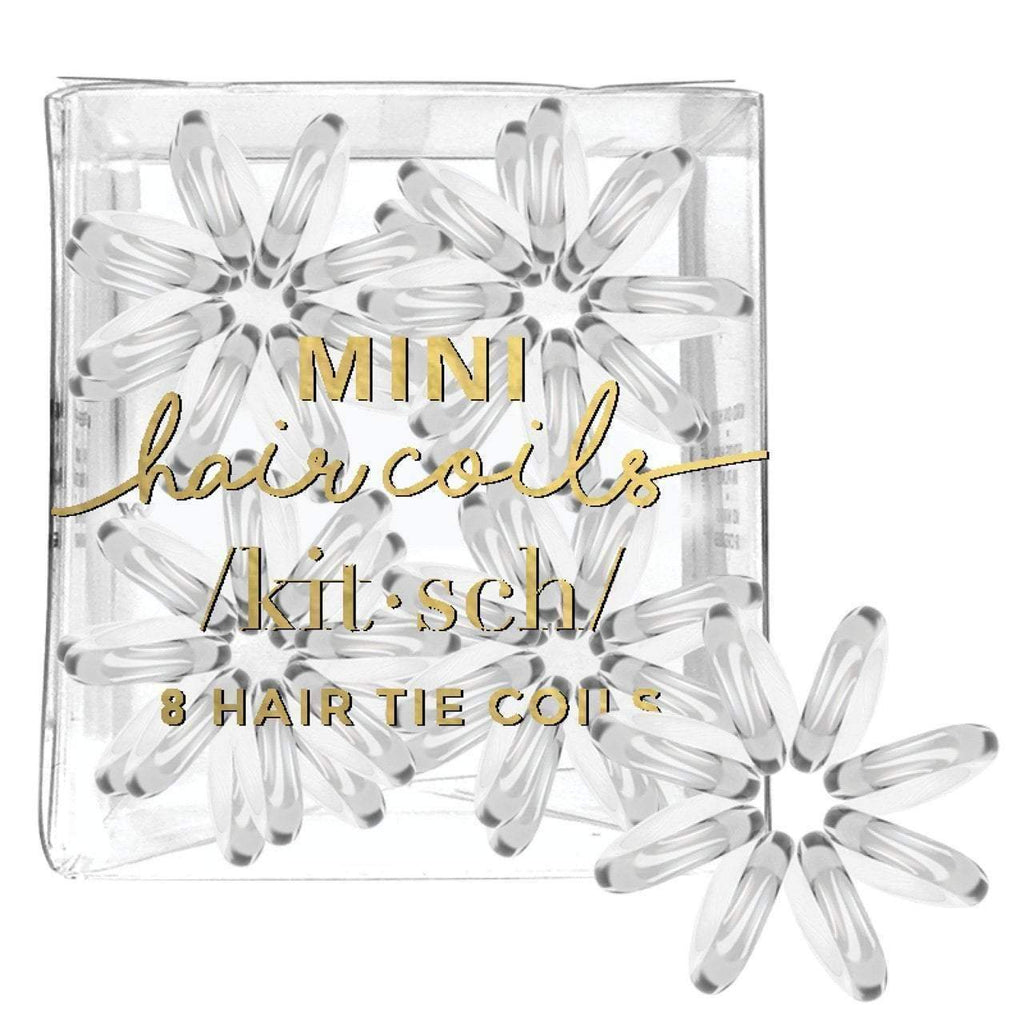 8 Pack Mini Hair Coils - Transparent - KITSCH