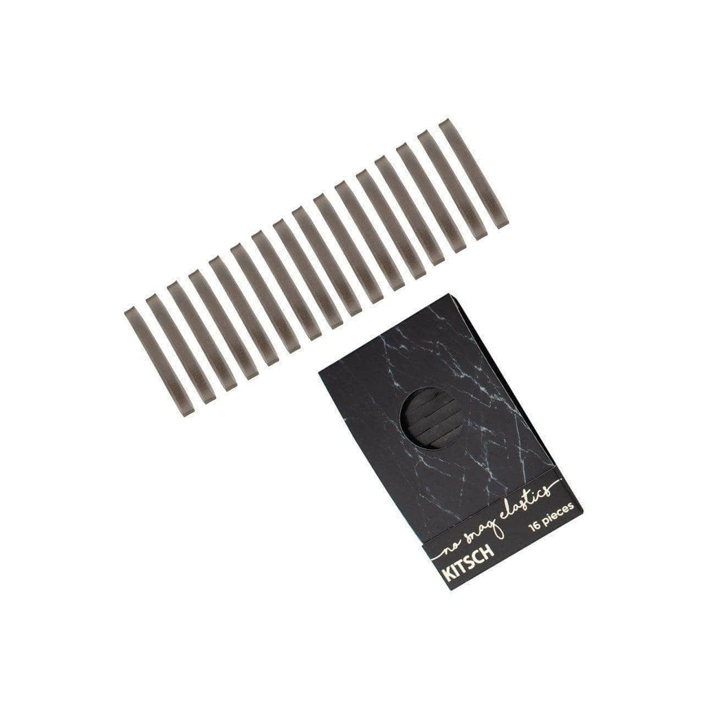 Black Marble Matchbook Elastics - KITSCH